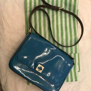 Kate Spade ♠️ blue patent shoulder /crossbody bag